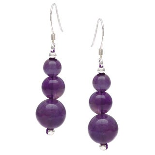 Pearlz Ocean Amethyst Journey Earrings