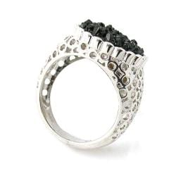 Pearlz Ocean Sterling Silver Black Druzy Ring
