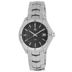 Tag Heuer Men's 'Link' Black Dial Stainless Steel Quartz Watch