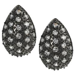 Tressa Black Rhodium Pave-set Cubic Zirconia Earrings