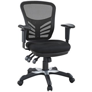Modway Articulate Black Mesh Office Chair with Dual-caster Wheels