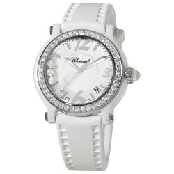 Chopard Women's 288507-9012 'Happy Sport Round' White Ceramic Quartz Watch