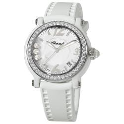 Chopard Women's 'Happy Sport Round' White Ceramic Quartz Watch