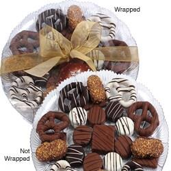 Art of Appreciation Gift Baskets: 24-Piece Premium Belgian Chocolate-Dipped Treats Gift Platter