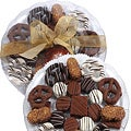 Art of Appreciation Gift Baskets: 24-Piece Premium Belgian Chocolate-Dipped Treats Gift Platter