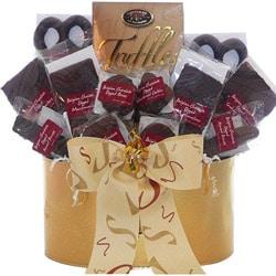 Art of Appreciation Gift Baskets: Belgian Chocolate Fantasy Truffles & Treats Gift Set