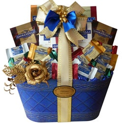 Art of Appreciation Gift Baskets: Love of Ghirardelli Chocolate Gift Basket