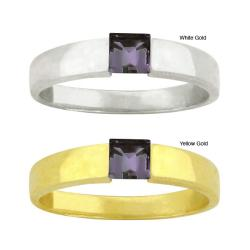 10k Gold Synthetic Alexandrite Solitaire Ring