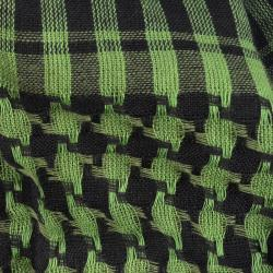 LA77 Women's Black and Green Squares Scarf