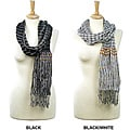 LA77 Women's Striped Scrunch Scarf