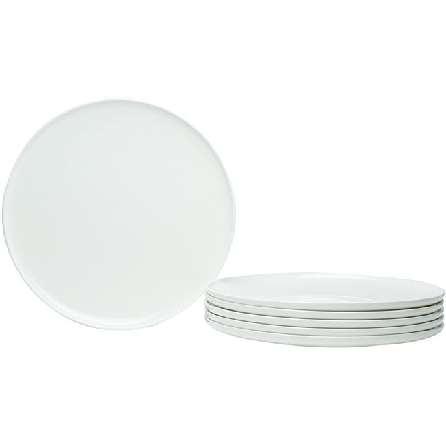 Red Vanilla Everytime White Coupe 11-inch Dinner Plates (Set of 6)