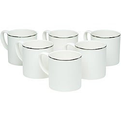 Red Vanilla Spin Platinum Coffee Mugs (Set of 6)