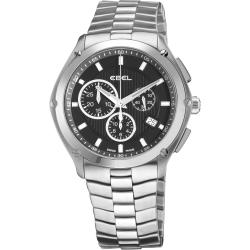 Ebel Men's 'Classic Sport' Stainless Steel Chronograph Watch