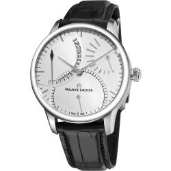 Maurice Lacroix Men's MP6508-SS001-130 'Master Piece' Silver Retrograde Dial Watch