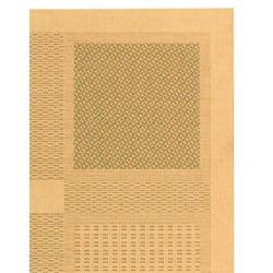 Natural/ Olive Indoor Outdoor Rug (9' x 12')