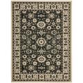 Cream/ Black Indoor Outdoor Rug (6'7 x 9'6)