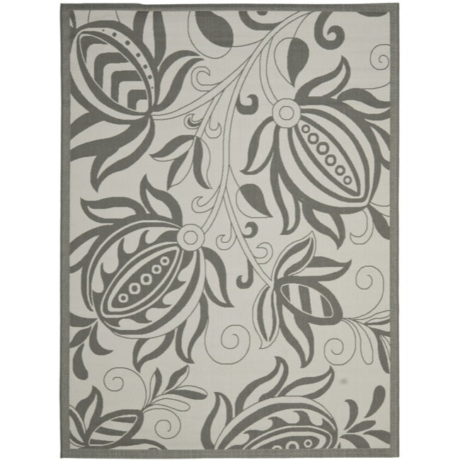 Safavieh Grey Indoor Outdoor Rug (6'7 x 9'6)