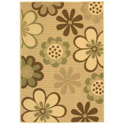 "Safavieh Natural/Brown Indoor/Outdoor Polypropylene Rug (6'7"" x 9'6"")"