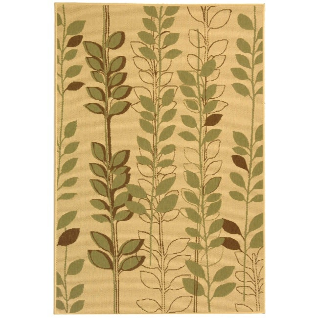 Safavieh Natural/ Brown Indoor Outdoor Rug (2'7 x 5')