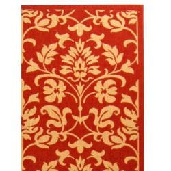 Safavieh Red/ Natural Indoor Outdoor Rug (9' x 12')
