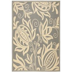 "Gray/Natural Indoor/Outdoor Polypropylene Area Rug (6'7"" x 9'6"")"