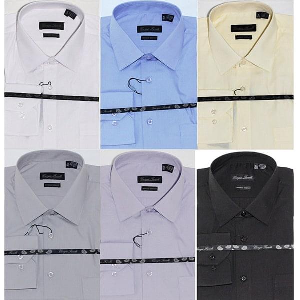 Men's Modern-fit Dress Shirts (Pack of 6)