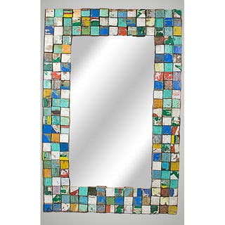 Reclaimed Wood Large Mosaic Mirror (USA)