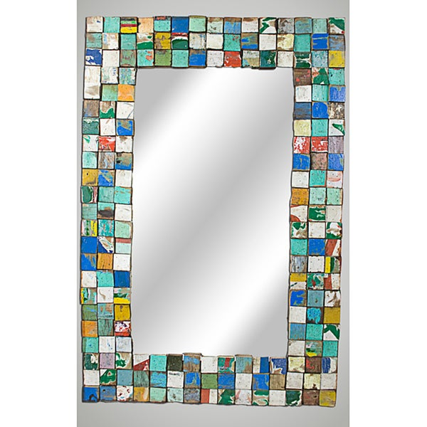 Ecologica Reclaimed Wood Large Mosaic Mirror (USA)