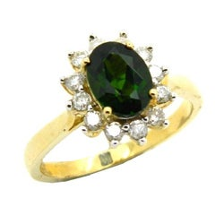 D'sire 10k Gold Chrome Diopside and 3/8ct TDW Diamond Ring (H-I, I1-I2)
