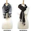 LA77 Wide Stripe Scrunch Scarf