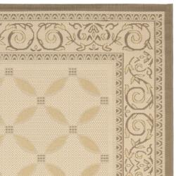 Rectangle Beige/Dark Beige Indoor/Outdoor Rug (5'3
