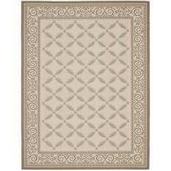 Beige/ Dark Beige Indoor Outdoor Rug (5'3 x 7'7)