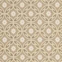 Beige/ Beige Indoor Outdoor Rug (8' x 11'2)