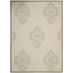 Beige/ Dark Beige Indoor Outdoor Power-loomed Rug (8' x 11'2)