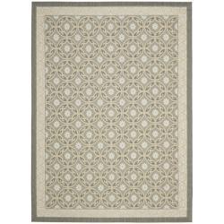 Safavieh Dark Grey/ Light Grey Indoor Outdoor Rug (5'3 x 7'7)