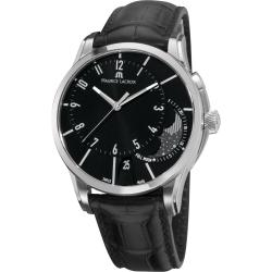 Maurice Lacroix Men's PT6318-SS001-330 'Pontos' Black Moonphase-dial Automatic Watch