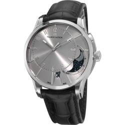 Maurice Lacroix Men's PT6318-SS001-130 'Pontos' Silver Dial Black Leather-Strap Automatic Watch