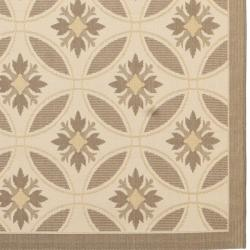 Contemporary Beige/Dark Beige Indoor/Outdoor Rug (5'3