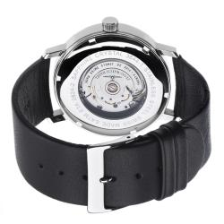 Zeno Men's 'Basel' Black Leather Strap Automatic Watch