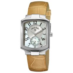 Philip Stein Women's Classic Almond Leather Strap Watch