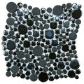 SomerTile 11.25x12-inch Posh Bubble Black Porcelain Mosaic Tiles (Set of 10)