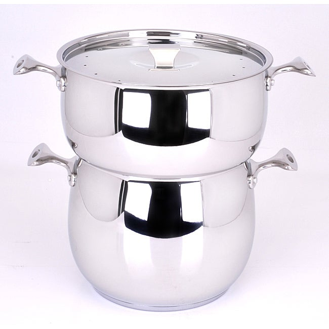 Art cuisine chaudron stainless steel couscous steamer for Art and cuisine ceramic cookware