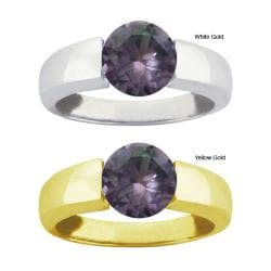 10k Gold Synthetic Alexandrite Bold Contemporary Ring