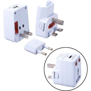 QVS World Power Travel Adapter Kit with Surge Protection & USB Charge