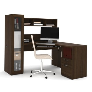 Bestar Dayton L Shaped Desk 16179577 Overstock Com
