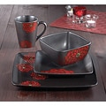 American Atelier Asiana Red 16-piece Dinnerware Set