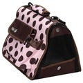 Pet Life 'Polka-Dot' Medium Zippered Pet Dog Carrier