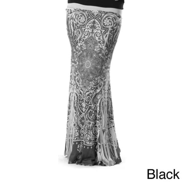 Tabeez Women's 'Sublime' Printed Maxi Skirt