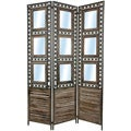 Tall Square Pane Shutter Room Divider (China)