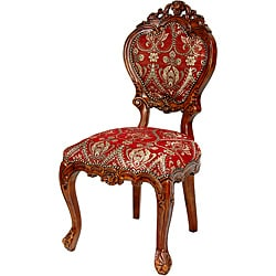 Queen Victoria Crimson Fleurs-De-Lis Side Chair (China)